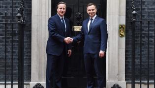 David Cameron i Andrzej Duda