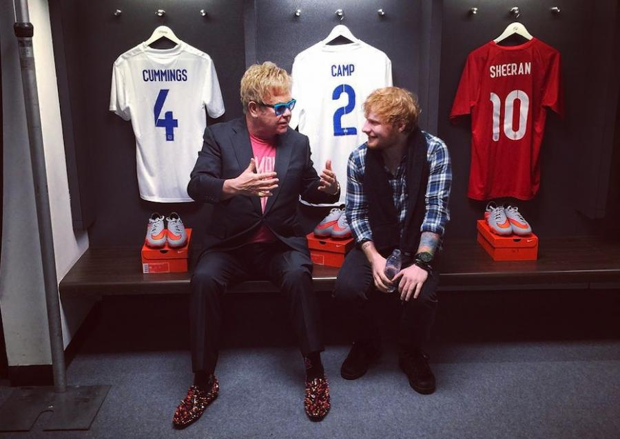 Ed Sheeran z sir Eltonem Johnem