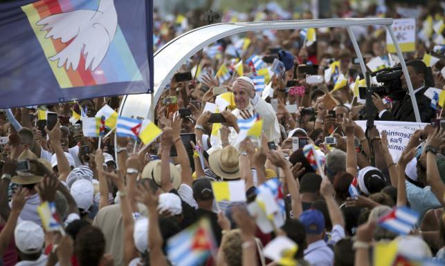 Msza pod okiem Che Guevary. Papież Franciszek z wizytą na Kubie. ZDJĘCIA