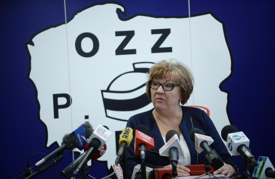 Przewodnicząca Ogólnopolskiego Związku Zawodowego Pielęgniarek i Położnych Lucyna Dargiewicz