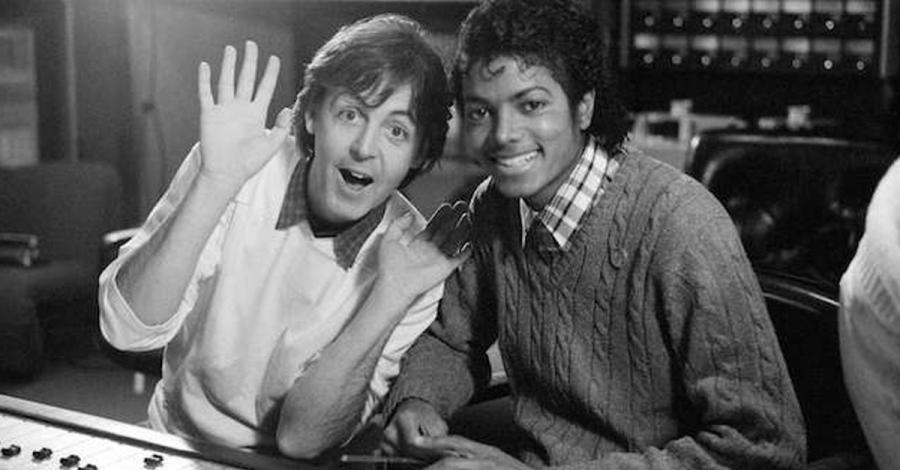 Paul McCartney i Michael Jackson w 1983 roku