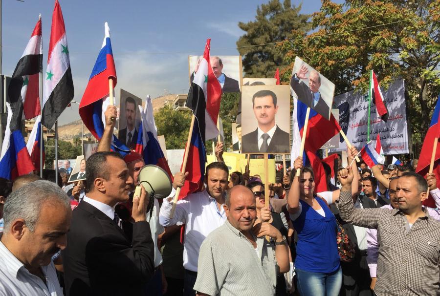 Prorosyjska manifestacja w Damaszku