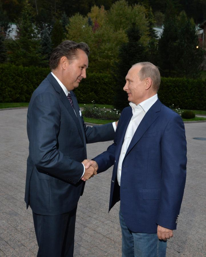 Władimir Putin i Bo Andersson szef AvtoVAZ
