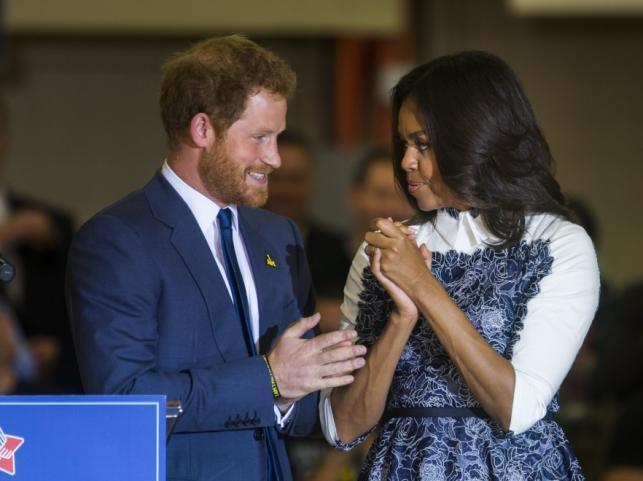 Michelle Obama i książę Harry