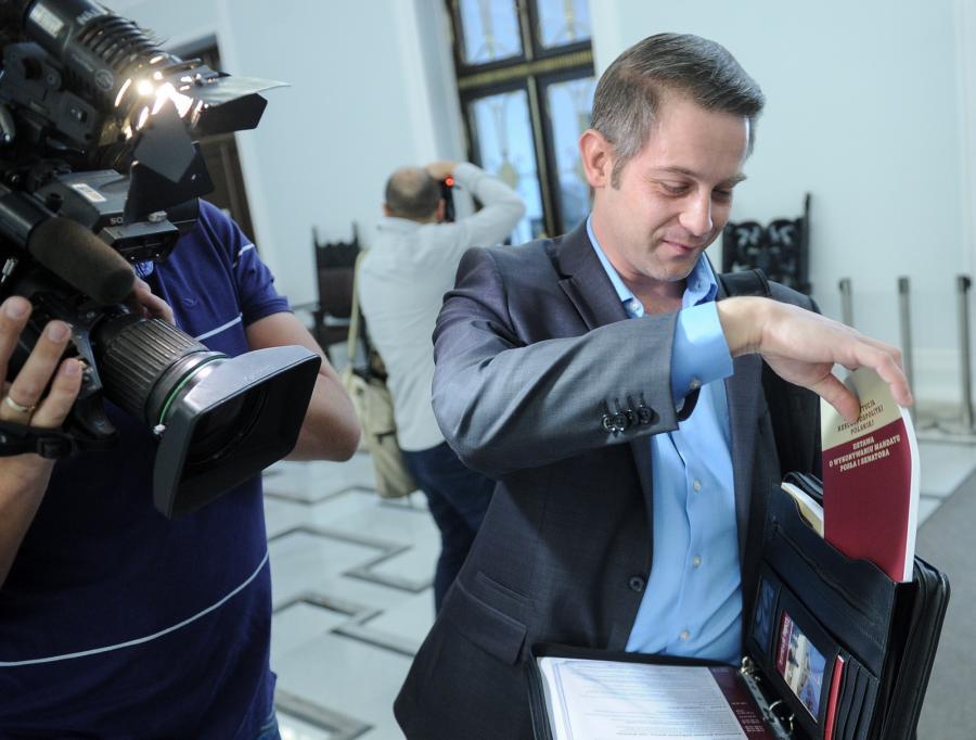 Tomasz Cimoszewicz na szkoleniu dla nowych posłów