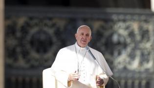 Papież Franciszek przemawia