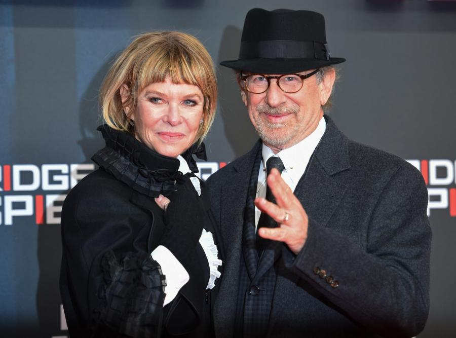 Steven Spielberg z żoną Kate Capshaw