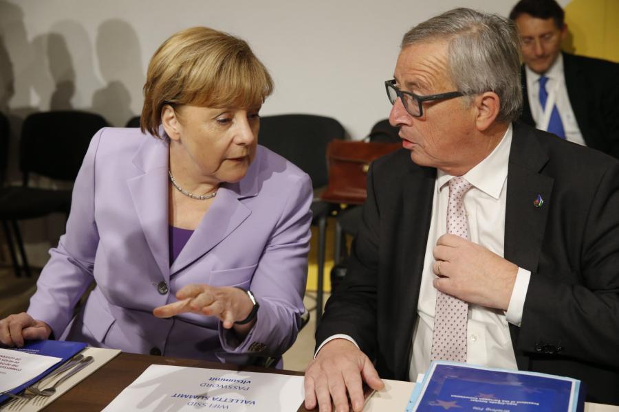 Angela Merkel i Jean-Claude Juncker