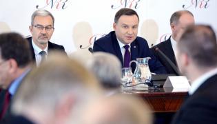 Prezydent Andrzej Duda podczas posiedzenia Narodowej Rady Rozwoju