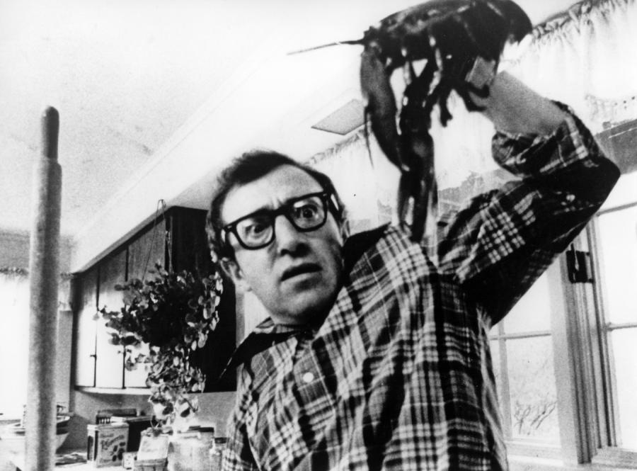 "Woody Allen w filmie ""Annie Hall"""