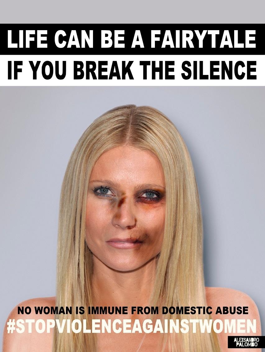 Gwyneth Paltrow w kampanii #stopvilenceagainstwomen