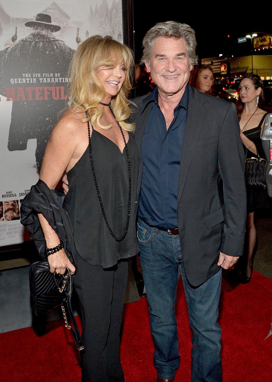 """Kurt Russell i Goldie Hawn na premierze filmu """"Nienawistna ósemka"""""""