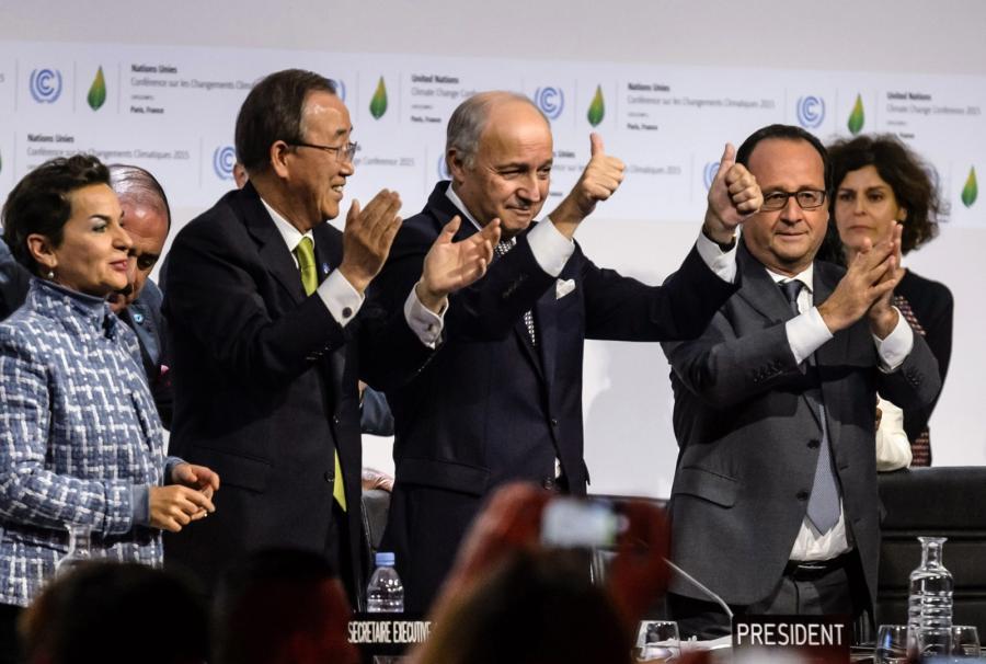 Uczestnicy szczytu klimatycznego w Paryżu