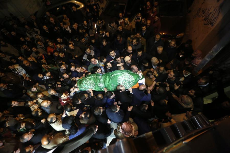 Pogrzeb zabitego Palestyńczyka