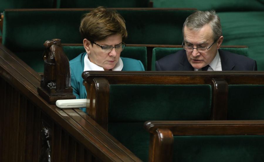 Premier Beata Szydło i wicepremier, minister kultury Piotr Gliński
