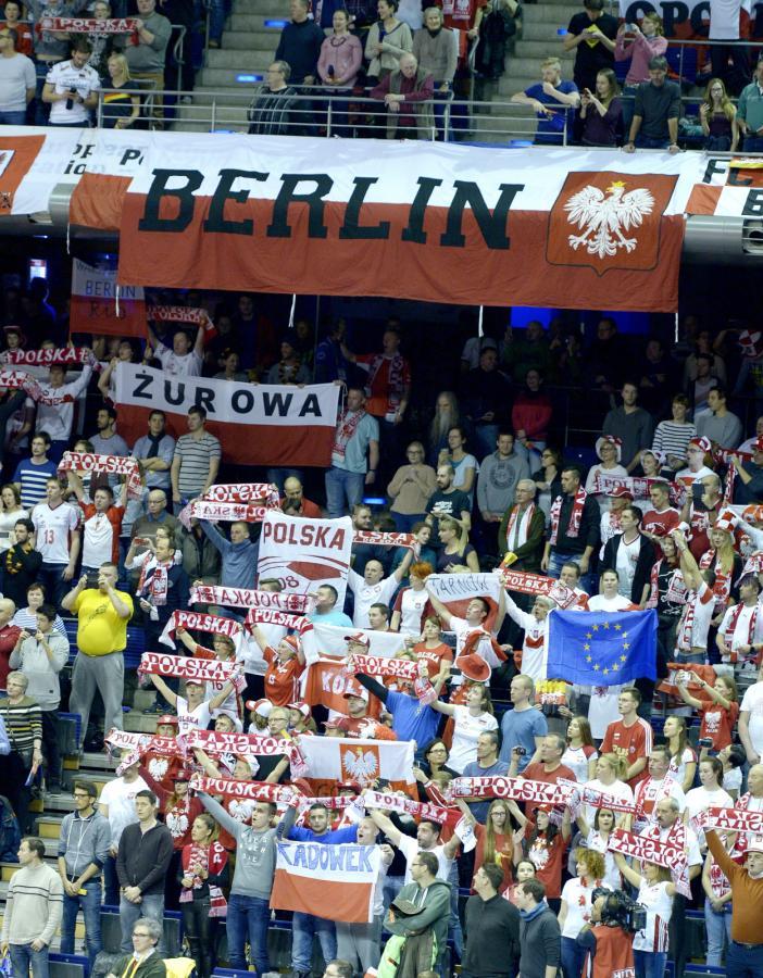 Polscy kibice zrobili najazd na hale w Berlinie