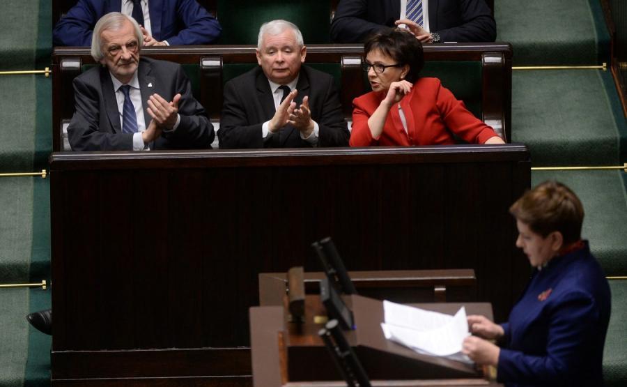 Beata Szydło i klub PiS w Sejmie