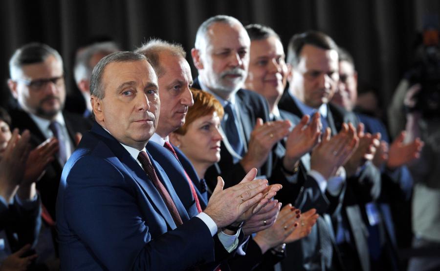 Grzegorz Schetyna na posiedzeniu Rady Krajowej PO
