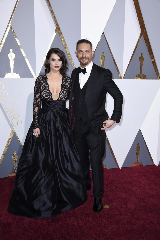 Charlotte Riley i Tom Hardy na Oscarach