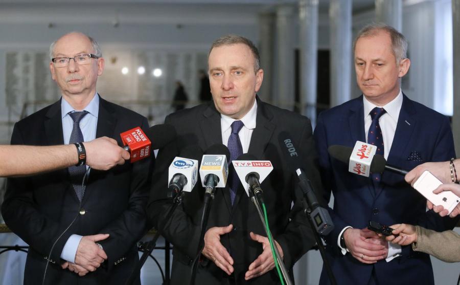 Janusz Lewandowski, Grzegorz Schetyna i Sławomir Neumann