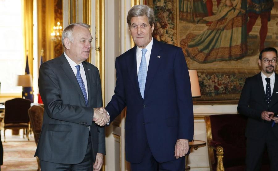 Jean-Marc Ayrault i John Kerry