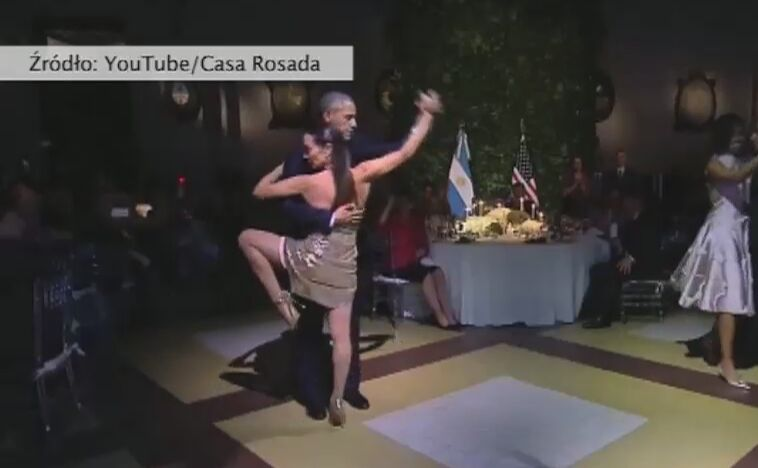 Barack Obama tańczy tango