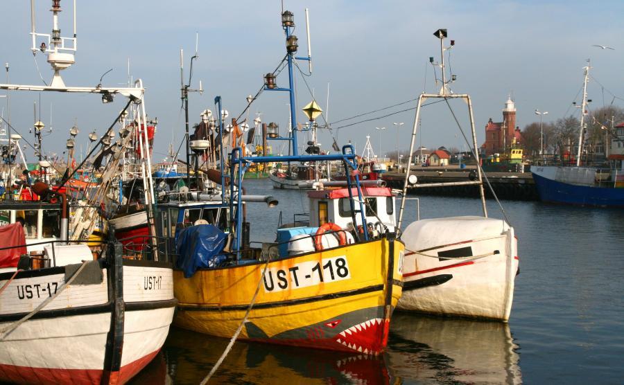 Kutry rybackie w Ustce / zdjęcie ilustracyjne