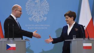 Premierzy Czech i Polski