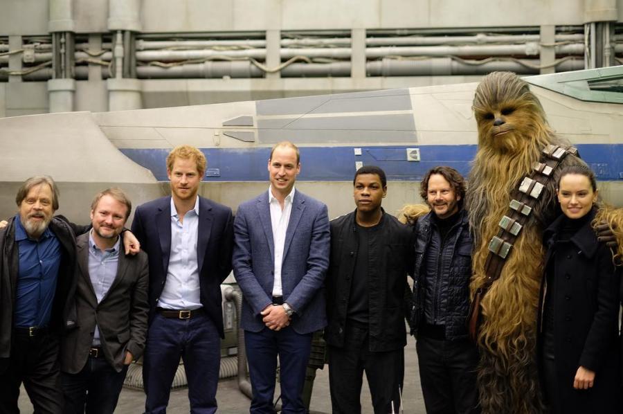 """William i Harry z ekipą """"Gwiezdnych wojen"""""""