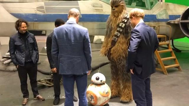"""William i Harry na planie """"Gwiezdnych wojen"""""""