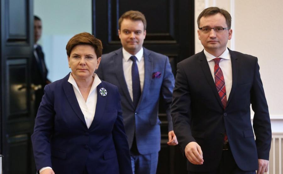 Beata Szydło, Rafał Bochenek i Zbigniew Ziobro