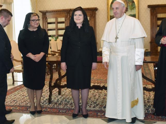 Beata Kempa, Beata Szydło i papież Franciszek