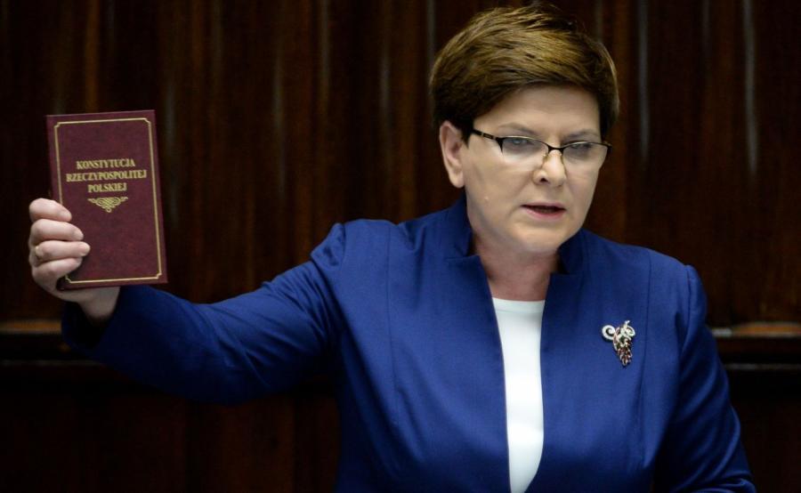Premier Beata Szydło przemawia w Sejmie