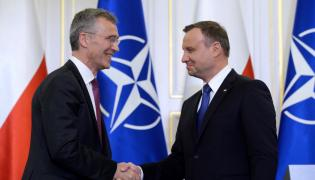 Prezydent Andrzej Duda i sekretarz generalny NATO Jens Stoltenberg