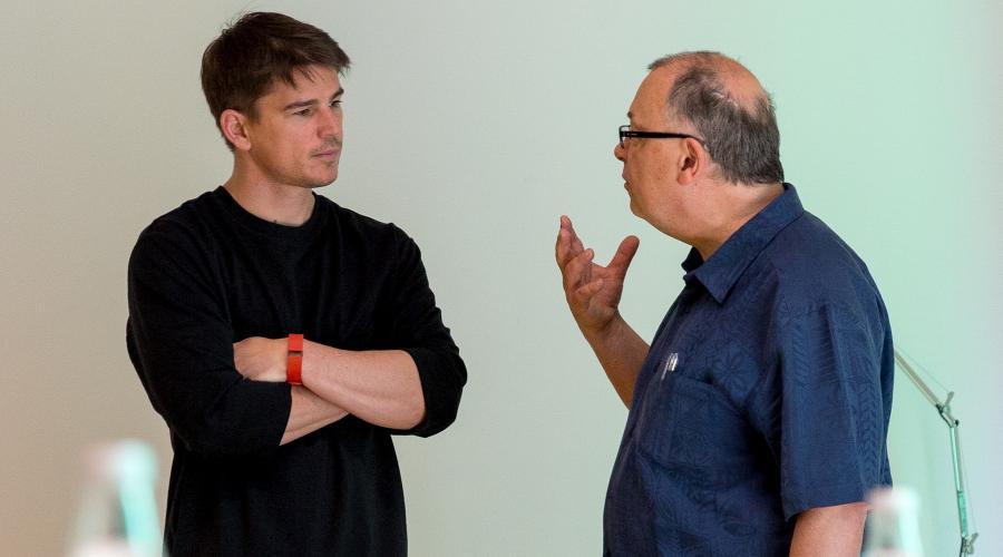 """Josh Hartnett na planie nowego filmu Lecha Majewskiego """"Dolina Bogów"""" w Muzeum Śląskim w Katowicach"""