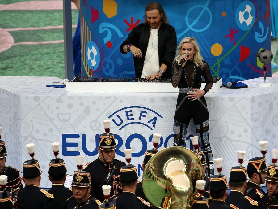 David Guetta i Zara Maria Larsson na Euro 2016