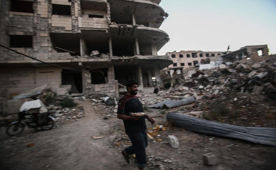 SYRIA. RAMADAN NA GRUZACH DAMASZKU
