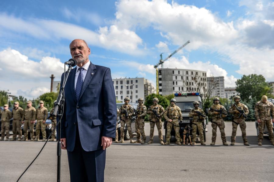 Antoni Macierewicz na święcie Żandarmerii Wojskowej