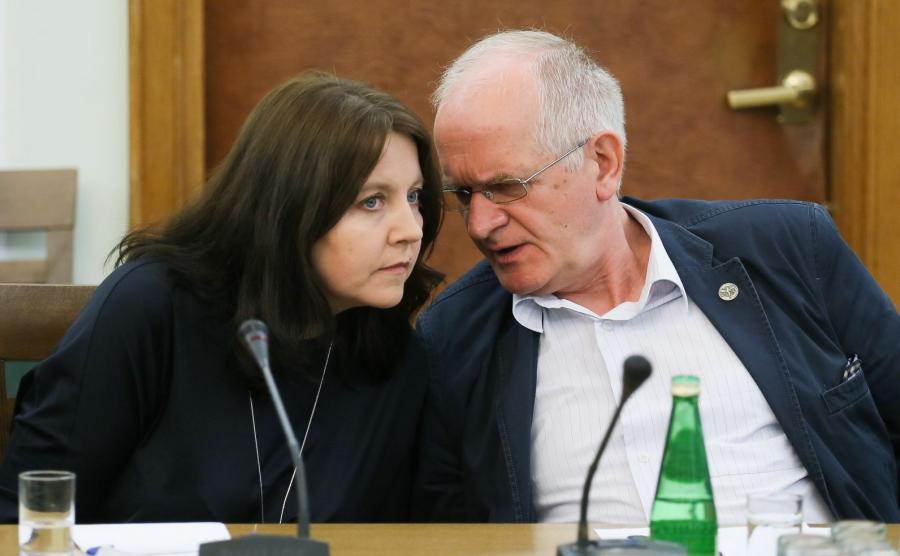 Joanna Lichocka i Krzysztof Czabański