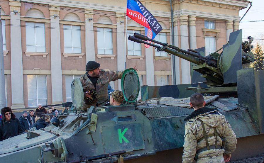 Prorosyjscy separatyści z Doniecka