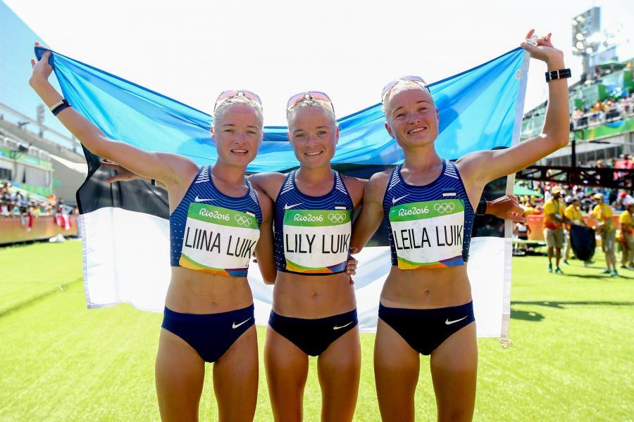 Siostry Liina, Lily i Leila Luik wystartowały w maratonie, ale żadna z nich nie zdobyła medalu