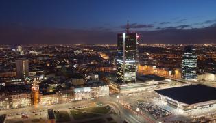 Centrum Warszawy nocą