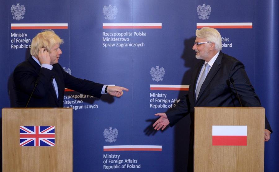 Boris Johnson i Witold Waszczykowski
