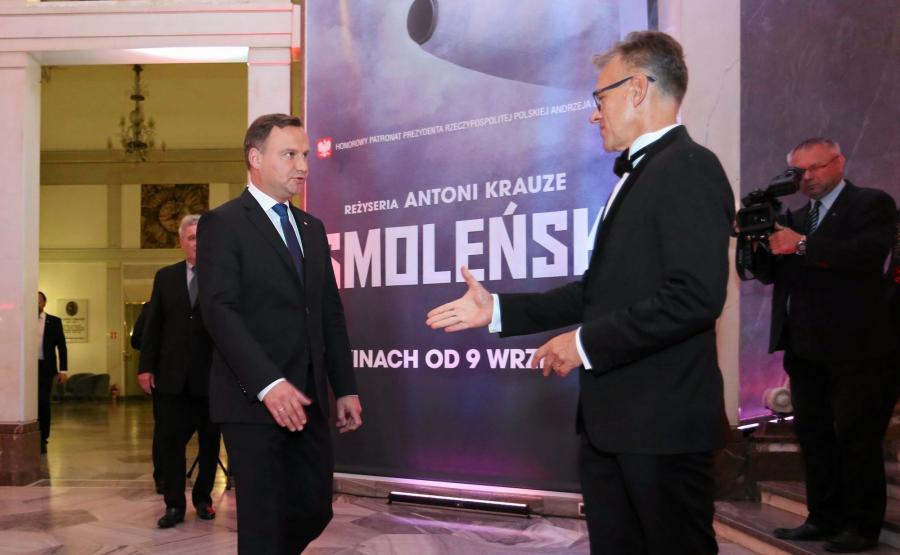 Andrzej Duda na premierze filmu \