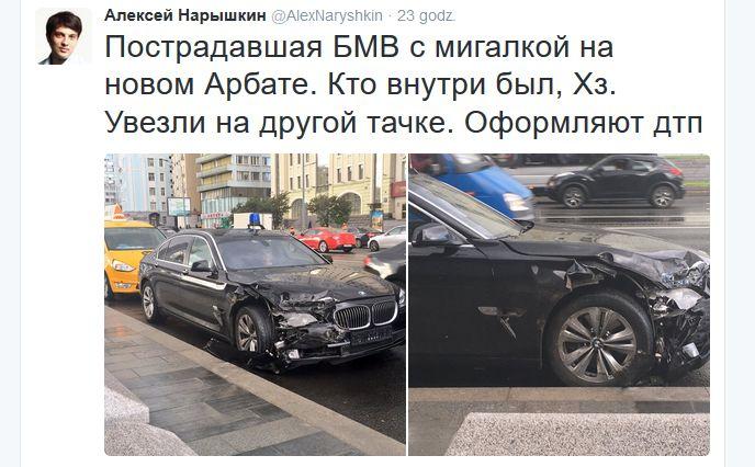 Czarna seria na Kremlu? Kolejny wypadek BMW z administracji Kremla