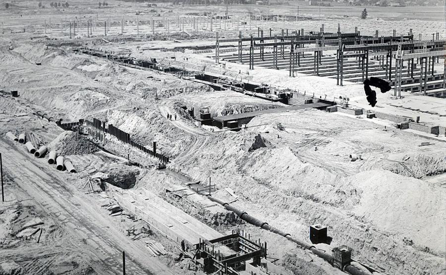 Teren budowy FSM Tychy - 1973 rok