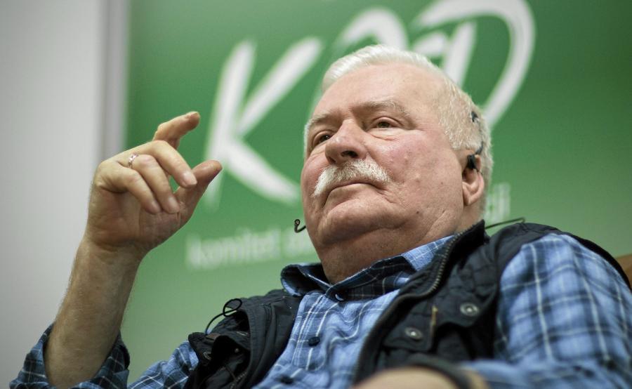 Lech Wałęsa na spotkaniu w Białymstoku