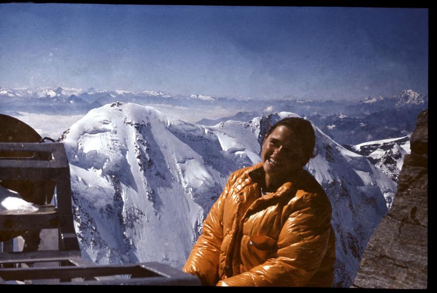 Monika Rogozińska na szczycie Monte Ros