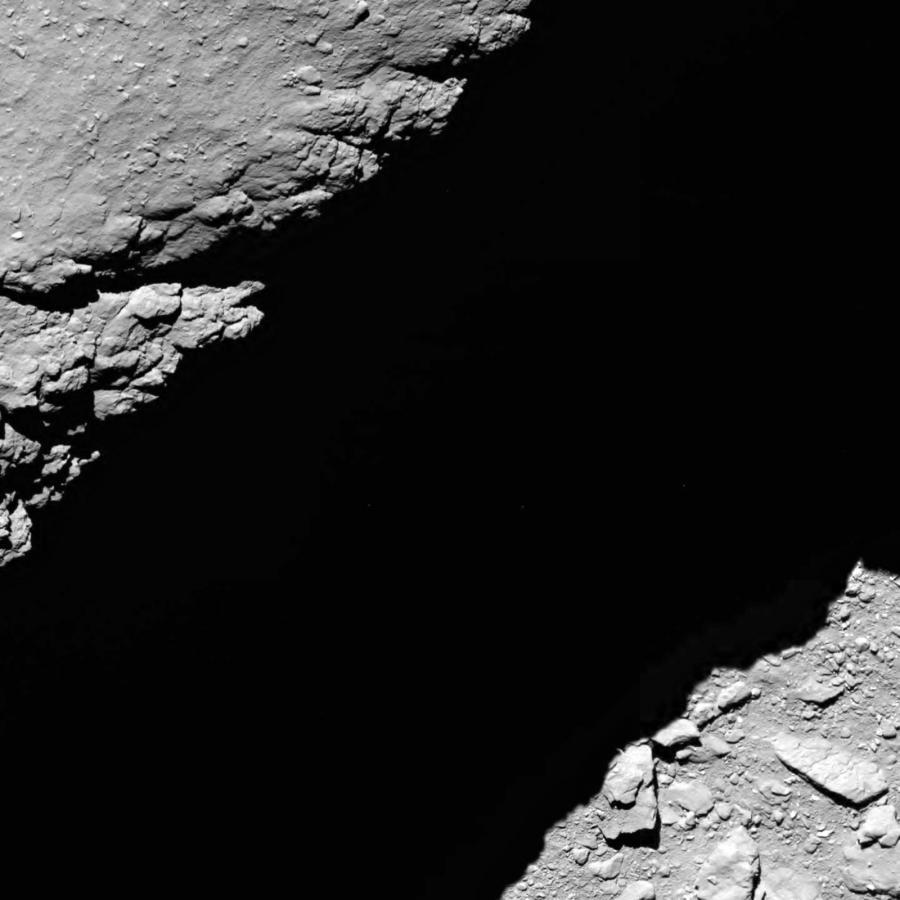 Powierzchnia komety z wysokości 1,2 km