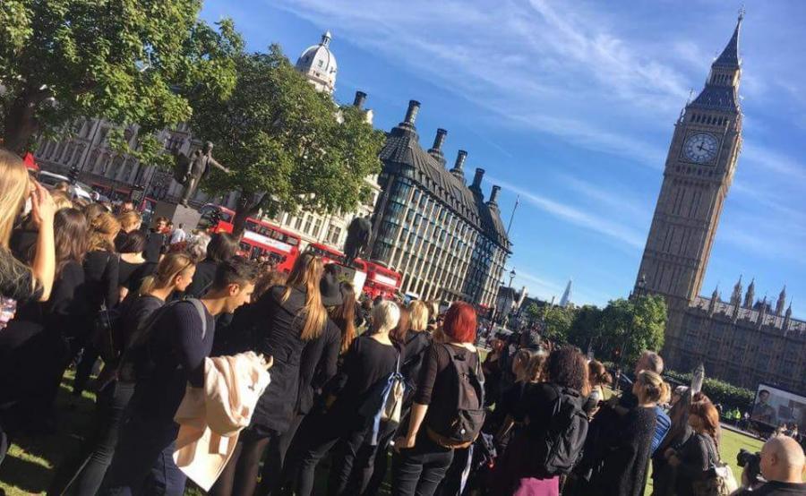 Protest w Londynie